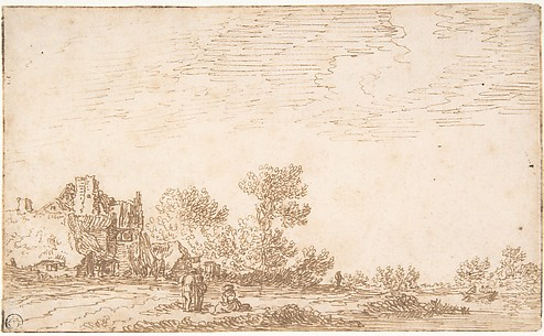 Landscape with River and Three Figures