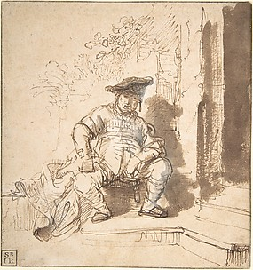Seated Man Wearing a Flat Cap