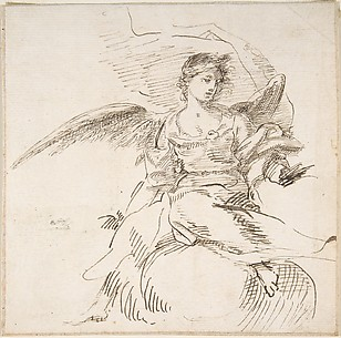 Angel Seated on Clouds