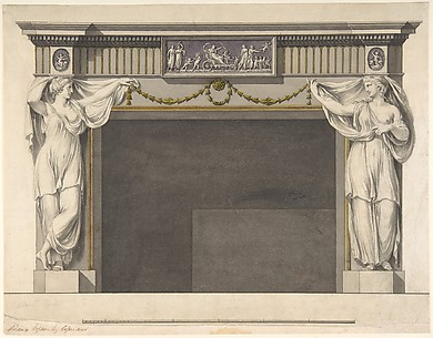 Design for a Chimney Piece in the Gallery, now DIning Room, Harewood House, Yorkshire (Elevation)