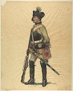 Prussian Military Costume: Kurassier Regiment No. 12 von Dallwig 1786