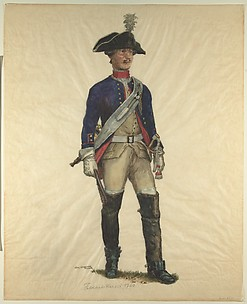 Prussian Military Costume: Field Artilleryman 1760
