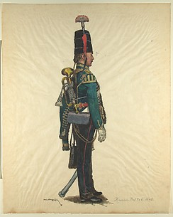 Prussian Military Costume: Hussar Regiment No. 6 1846