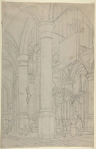 Interior of the New Church in Delft with the Tomb of William the Silent