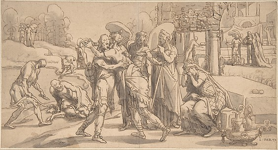 Raguel's Reception of Tobias at Ecbatana