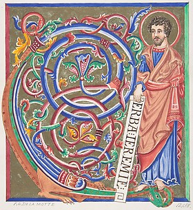 Illuminated Initial and Saint