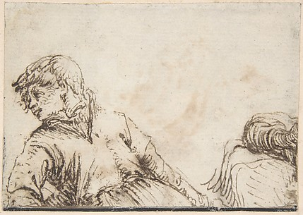Study of a Youth with his Head Turned to the Left and Leaning on his Right Elbow
