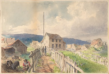 First Telegraph House at Hearts Content, Newfoundland, 1866