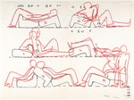 Multi-Chair (position studies: recto, six; verso, three)