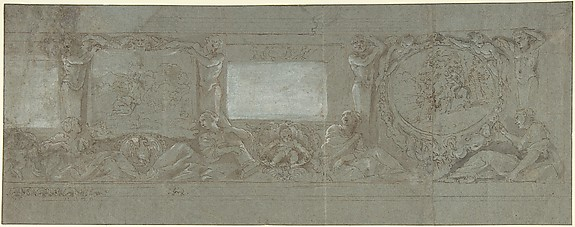 Design for a Wall Decoration with the Sacrifice of Abraham and the Flight into Egypt