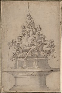 Design for a Fountain with Rivergods and Nymphs.