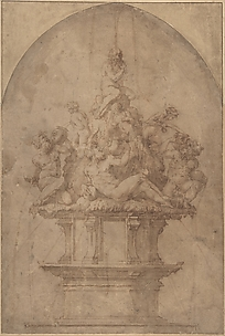 Design for a Fountain with River Gods and Nymphs