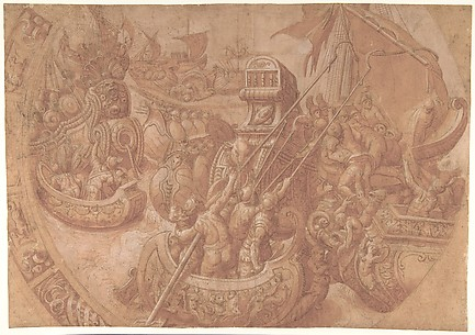 The Sea Battle in the Gulf of Morbihan.