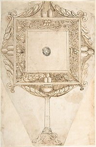 Design for a Mirror with Family Coat of Arms