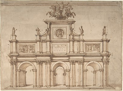 Design for a Triumphal Arch with Three Arches