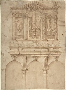 A Pipe Organ with Papal Arms