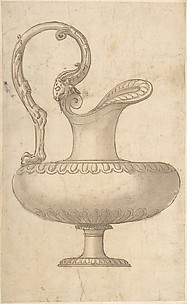 Drawing of a Ewer in Antique Style