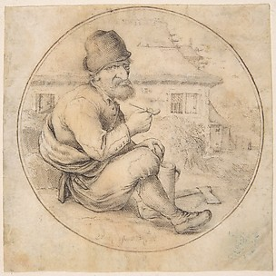 Seated Old Man Holding a Pipe