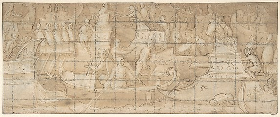 Antique Naval Battle(?) (recto); A Battle Scene (verso)