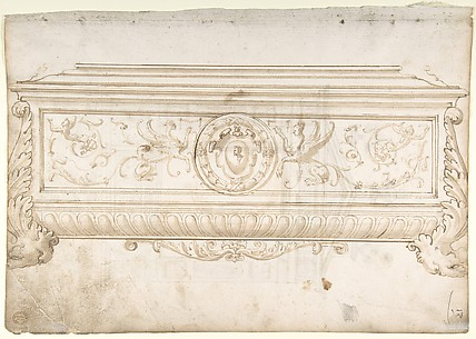Design for a Cassone (Recto), Design for a Tomb (Verso)