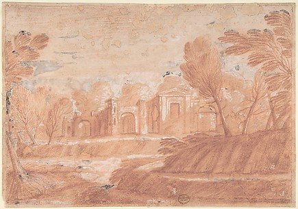 Landscape with Architectural Structure