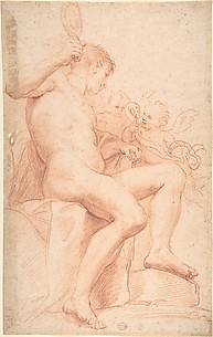 Nude Male with Two Putti