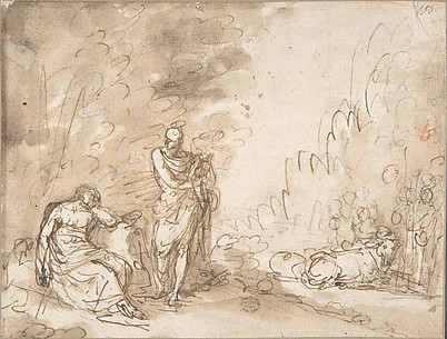 Scene with Apollo? Orpheus?