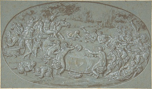 King Midas Feasting At The Arrival of Silenus