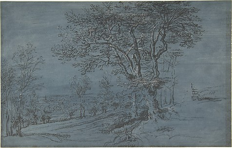 Wooded Landscape with a House by a River