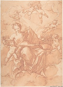 Female Allegorical Figure With Cherubs(?)
