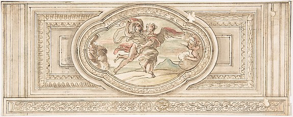Design for a Panel with a Depiction of Boreas Abducting Oreithyia