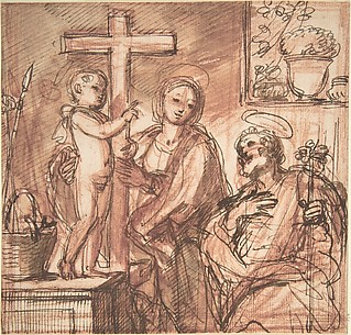 Holy Family in an Interior