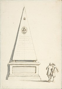Funerary Monument with Two Male Figures (Santa Maria del Popolo, Cappella Chigi, Rome)