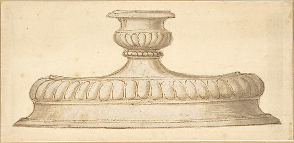 Design for a Decorated Base of a Candlestick Holder