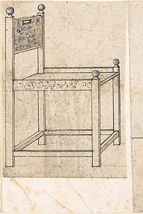 Perspectival Drawing of an Armchair