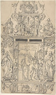 Design for a Tabernacle with the Annunciation