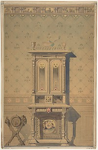 Design for a Cabinet in an Interior Setting