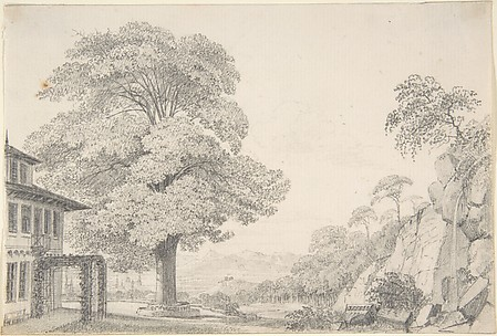 Landscape with a Tree in front of a Villa