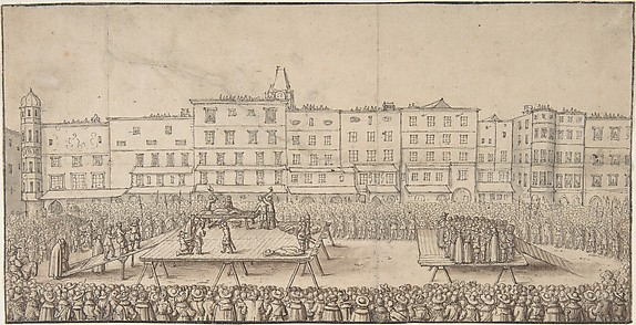 An Execution of Seven Boores Rebels in Lintz, June 16, 1636
