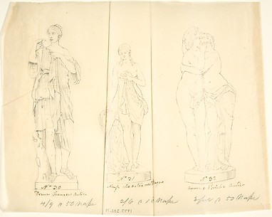 Sketches of Three Statues: