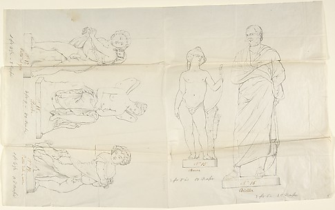 Sketches of Five Statues: