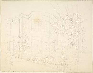 Sketch of Building and Garden