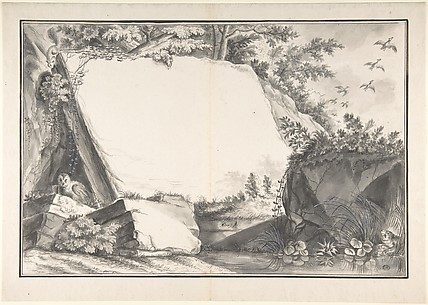 Design for a Title Page(?): Rocks and Animals