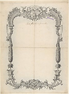 Design for Frame with Trees and Trellises