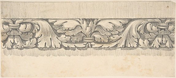 Border Design from a Classical Frieze, Decorated with Vines and Leaves