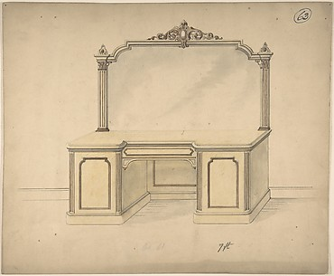 Design for a Desk with Mirror