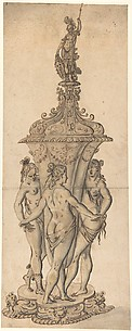 Design for a Goblet with the Three Graces