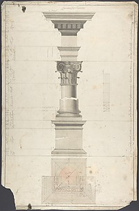Design for a column in Roman order