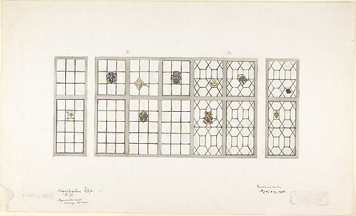 Design for Leaded Windows with Colored Inserts