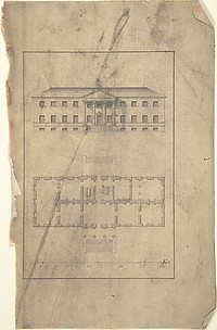 Plan and Elevation of Country House